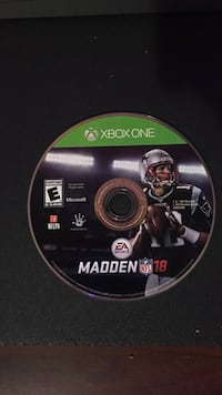 Xbox One Madden NFL 18 game disc Houston, 77071