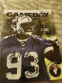 2003 Autographed Colts Game Day Program Indianapolis, 46236