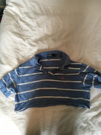 blue and white stripe polo shirt North Vancouver, V7N 1C1