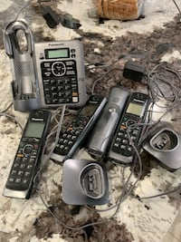 Black and gray cordless  phones & answering machine Los Angeles, 91356