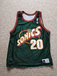 Rare Champion NBA Sonics Jersey Maple Ridge, V2W 1G2