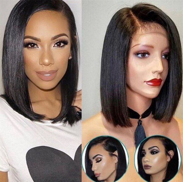 Begagnad 8a Lace Front Human Hair Wigs Or Picked With Baby Hair