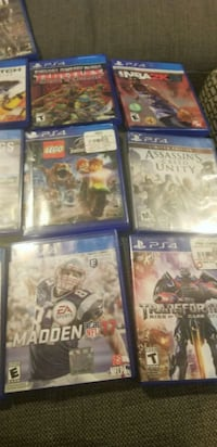 four Sony PS4 game cases Clarksburg, 20871