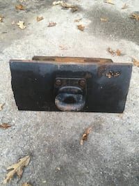 Making heavy duty trailer? Need heavy duty trailer tong ring ? Just cut to fit and weld this unit to the front of your trailer so you can couple to a pintle hook / GI hitch. Made out of steel bridge girder / I-Beam. Forged tow ring, Smyrna, 30080