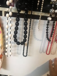 Brown and white beaded necklace College Park, 20740
