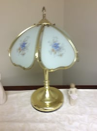 White and gold table lamp Halifax, 17032