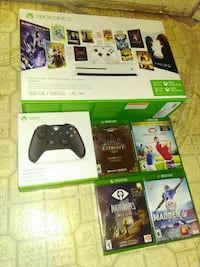 Unopened Xbox One,  Unopened Controller, and Games