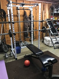 Weight bench and squat rack. 390lbs of weight Boiling Springs, 29316