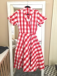 Vintage Red & White Gingham Dress Vancouver, V5K 3E3