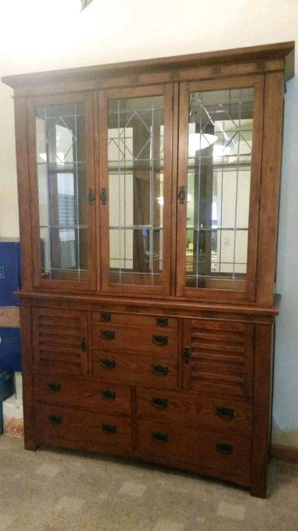 Used Mission Style Dining Room Table And Hutch For Sale In Kissimmee