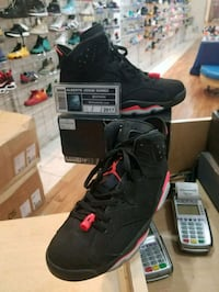 Black Infrared 6 Size 10.5 Wheaton-Glenmont, 20902