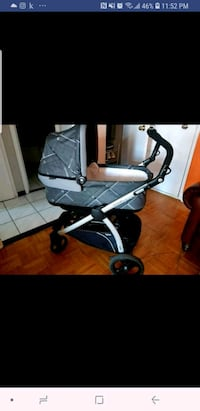 baby's gray and black stroller Toronto, M6N 1Y6
