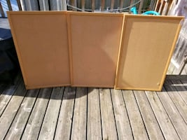 three cork boards $10 a piece or all three for 20