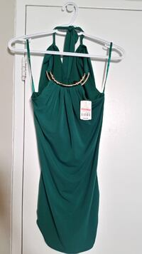 Green halter top