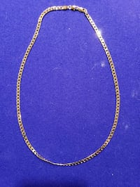 gold-colored chain necklace 24 inches