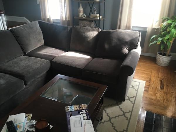 Used Grey sectional microfiber sofa - Rowe Furniture for sale in ...