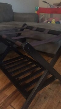 brown wooden framed glass top table New York, 11211