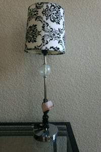 black and white floral table lamp Cottonwood Heights, 84121