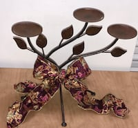 Oil rubbed bronze Metal Candle Holder Candelabra - holds 3 candles Los Angeles, 91364