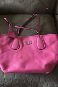 Coach leather pink purse