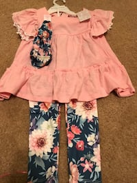 Pretty! Girls 4T Tommy Bahama Pant Outfit with matching Headband  Gainesville, 20155