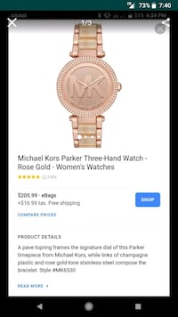 Michael Kors Rose Goldtone watch with champagne pl Fort Worth, 76133