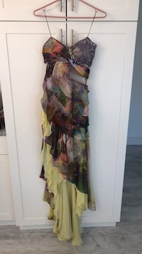 women's multicolored floral sleeveless dress 482 km