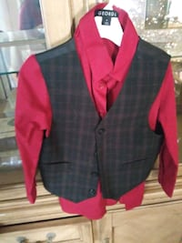 red and black plaid button-up jacket Laredo, 78040
