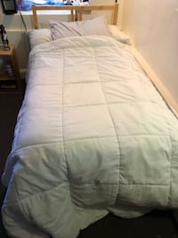 Twin Bed Frame with mattress, sheets included if wanted