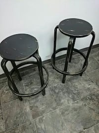 two black wooden barstools Rochester, 14616