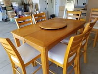 Dinette w/ leaf and 7 bar height chairs Winchester, 92596