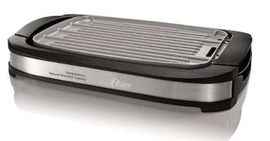 Oster DuraCeramic Reversible Grill and Griddle, Black (GENTLY USED)