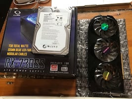 Power supply, 1TB hard drive, and Graphics Card