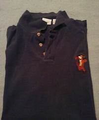 black polo shirt with tigger embroider Roanoke, 24012