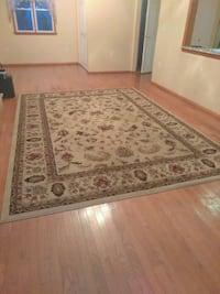 brown and white floral area rug Brick, 08724