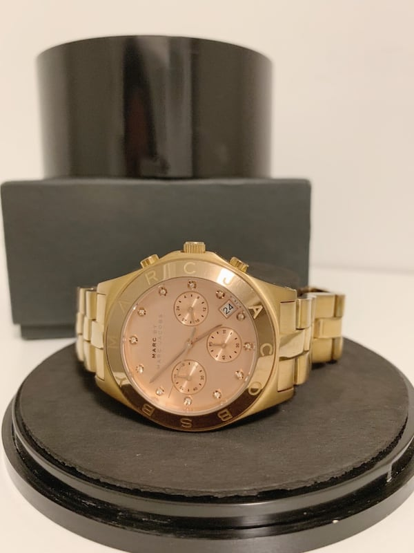 MARC by MARC JACOBS Large Blade Chrono Watch Rose Gold ab727b2f-665e-47c2-9375-ee20a627bb02