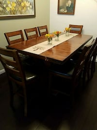 rectangular brown wooden table with six chairs din Chula Vista, 91910