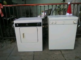 Washer and dryer,like knew apartment,studio size. Regular wall outlet.