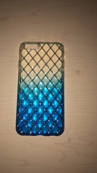 clear and blue iPhone 6/6s case
