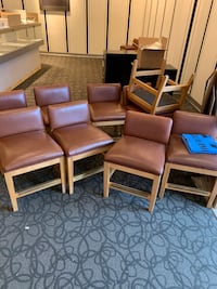Leather tan Chairs (not dining room chairs)