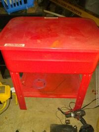 red parts cleaning table Toney
