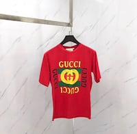 red Gucci print crew-neck t-shirt Sunnyvale, 94089