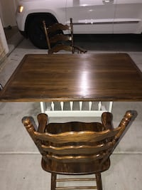 Restained, repainted, and sealed rustic kitchen table and chairs  Rio Rancho, 87124