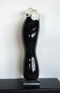 Glass Sculpture of couple embracing