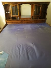 California king size water bed frame.