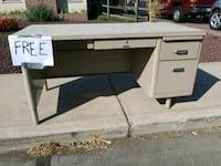 FREE GOOD STURDY METAL DESK