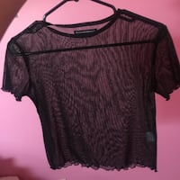 Sheer sparkly brandy Melville tee