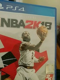 NBA 2K18 PS4 game case Cleveland Heights, 44118