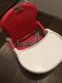 Red and white Cam booster seat Surrey, V3S 2E6