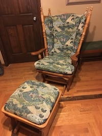 white and green floral padded armchair Jefferson City, 65101